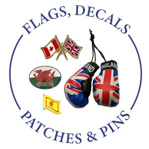 FLAGS, DECALS, PATCHES & PINS