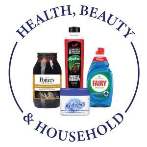 HEALTH, BEAUTY & HOUSEHOLD