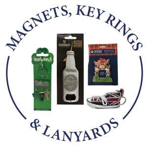 MAGNETS, KEY RINGS & LANYARDS